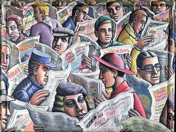 La Vie Sportive (oil on canvas)