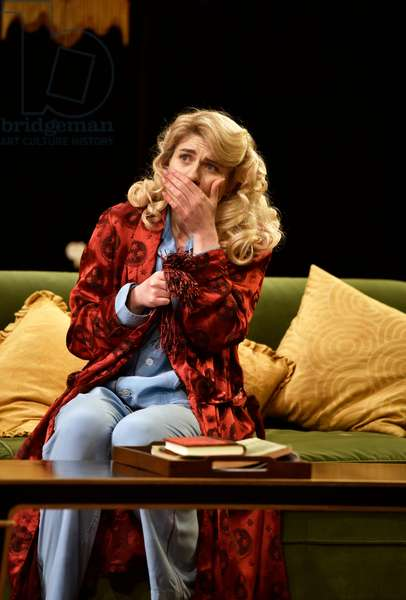 Lizzy Connolly (Playing Daphne Stillington) in a scene from Present Laughter by Noel Coward, Chichester Festival Theatre, Chichester, Sussex, United Kingdom. Wednesday 25 April 2018.