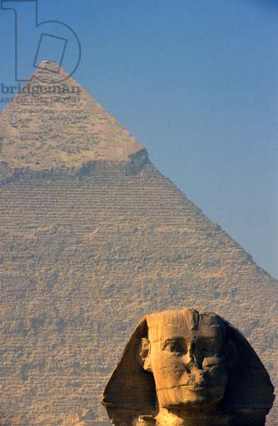 Pyramid of Giza and Sphinx, Cairo, Egypt (photo)