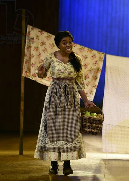 Amara Okereke as Laurey in Oklahoma!, Chichester Festival Theatre, West Sussex, UK, 19 July 2019 (photo)