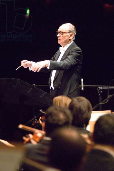 Ennio Morricone conducting the