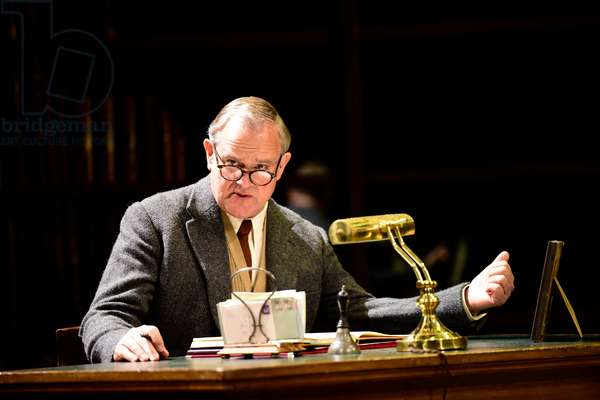 Hugh Bonneville playing writer CS Lewis in Shadowlands a play written by William Nicholson at Chichester Festival Theatre, West Sussex, UKDirected by Rachel Kavanaugh, Designed by Peter McKintosh , 2019 (photo)