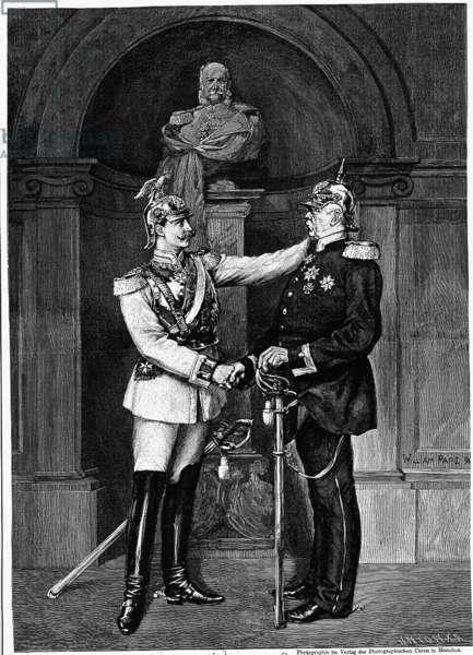 Otto von Bismarck and German Emperor Wilhelm II.