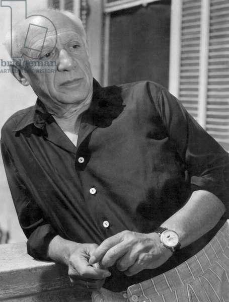 Portrait de l'artiste espagnol Pablo Picasso (1881-1973) Photographie