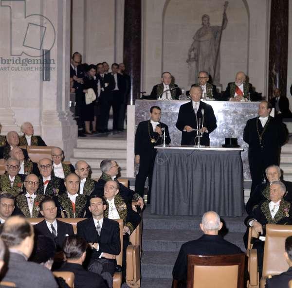 Adenauer a l'Institut de France