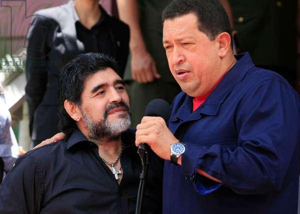 Maradona et Hugo Chavez