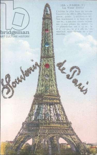 Glitzer Paris, la Tour Eiffel, Blick auf den Eiffelturm, Souvenir de Paris