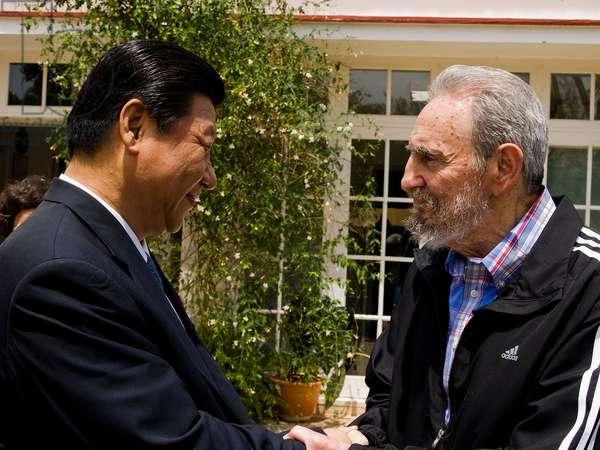 Xi Jinping et Fidel Castro