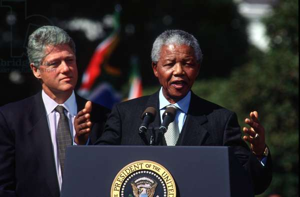 Bill Clinton et Nelson Mandela, 1994 (photo)