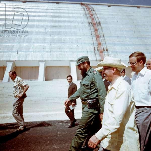 Fidel Castro and Erich Honecker