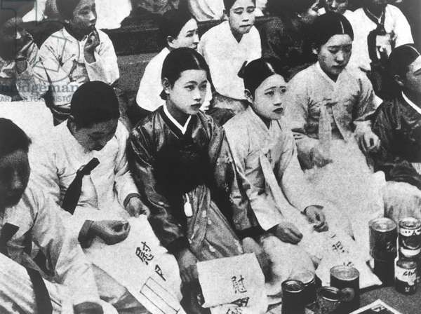 Korea / Japan: Korean 'Comfort Women' forced into sexual slavery by the Imperial Japanese Army, c. 1932-1945