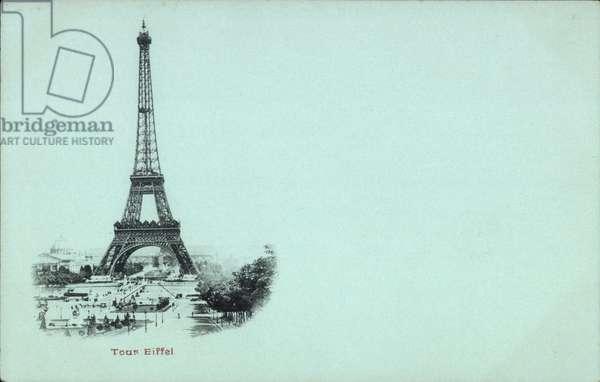 Paris, Vue sur le Tour Eiffel, Eiffelturm, Totalansicht