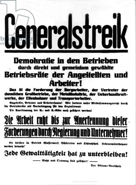 Miners call for general strike in 1919