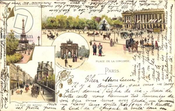 Paris, Eiffelturm, Triumphbogen, Place de la Concorde