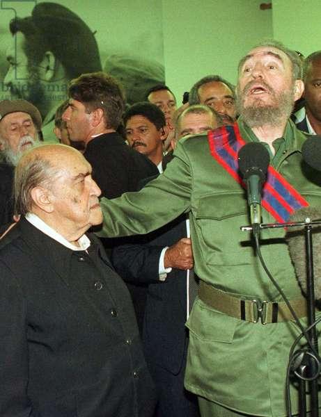 Oscar Niemeyer and Fidel Castro