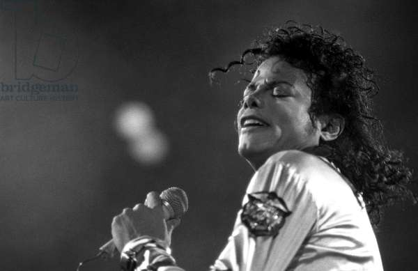 Michael Jackson, BAD World Tour, 2nd June 1988, performing in Vienna, Austria at