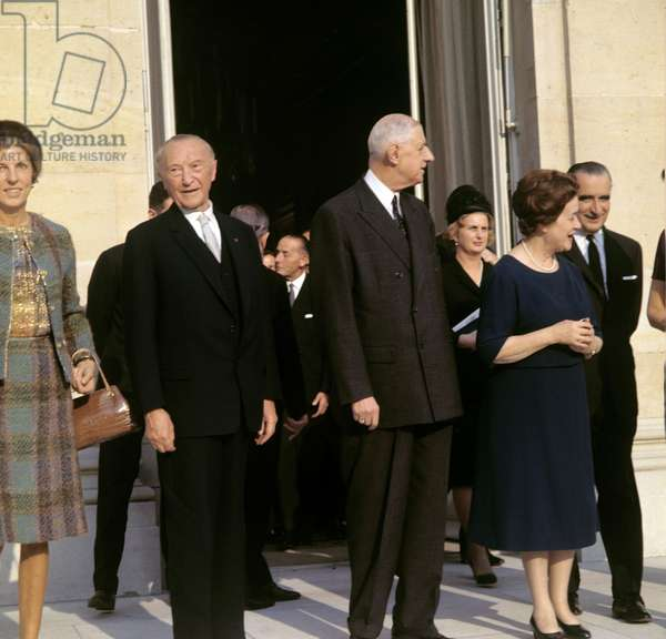 Konrad Adenauer and Charles de Gaulle