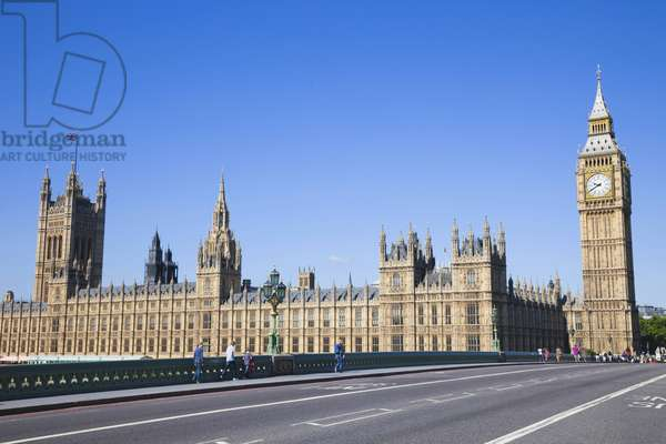 UK, United Kingdom, Europe, Great Britain, England, London, Westminster, Houses of Parliament, Palace of Westminster, Big Ben, Parliament, Landmark, Road, Empty Road, UNESCO, World Heritage, Sites, Tourism, Travel, Holiday, Vacation