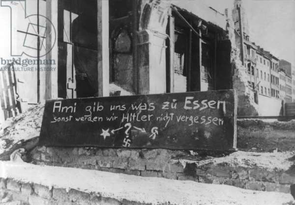 Hunger demonstration in post-war Germany