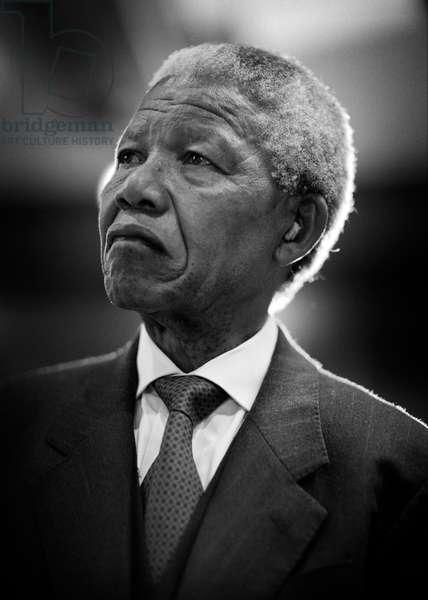 Nelson Mandela, 1994 (b/w photo)