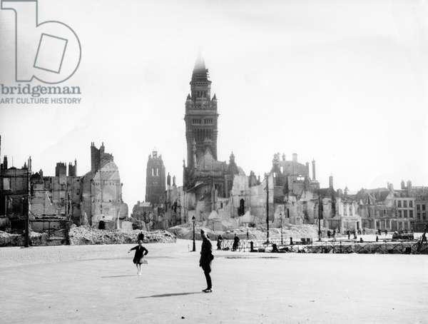 WWII - Destroyed Dunkirk 1940