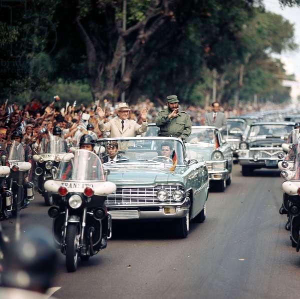 Erich Honecker et Fidel Castro