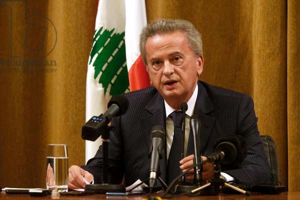 Central Bank Press Conference in Beirut, Lebanon, 2019