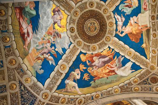 Dome painting with papal coat of arms, from the Sala di Costantino (fresco)