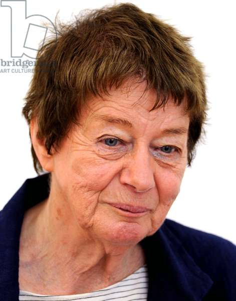 British artist Bridget Riley, Siegen, 22 June 2012 (photo)