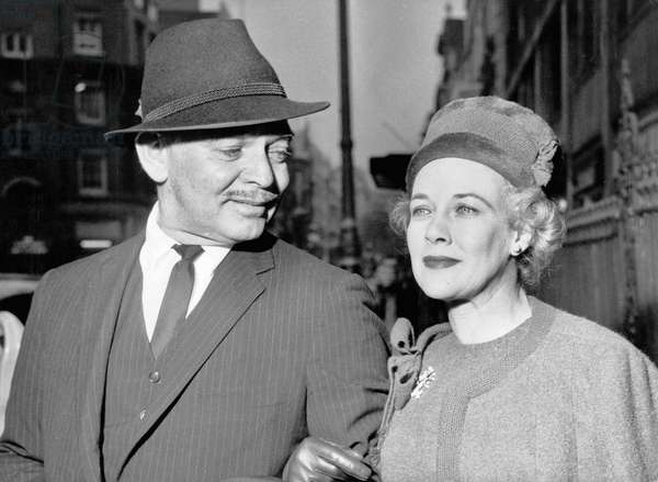 Clark GABLE with his wife Kay SPRECKELS in London, 1959