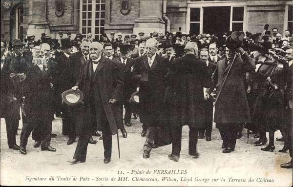 Versailles, 28. President der USA Thomas Woodrow Wilson, Clemenceau