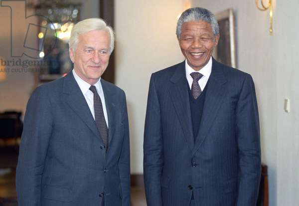 Richard von Weizsacker et Nelson Mandela, 1990 (photo)