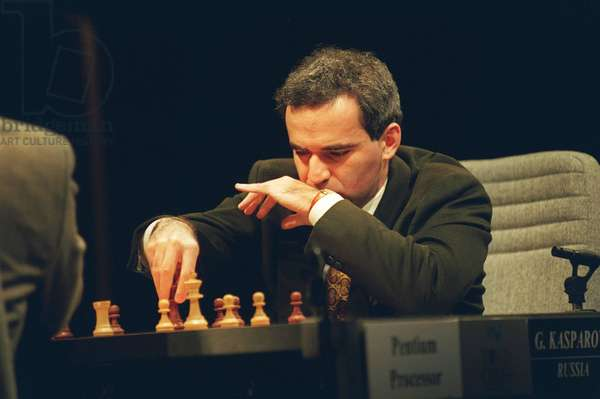 GARRY KASPAROV Russian World Champion Chess Player Seen in competition with...