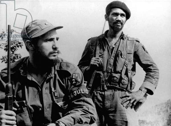 Fidel Castro et Juan Almeida Bosque