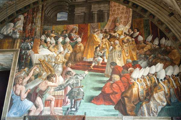 The Coronation of Charlemagne, Room of the Fire in the Borgo, 1511 (fresco)