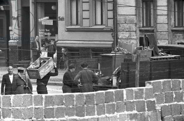 Compulsory evacuation of border houses on Berlin Bernauer Street