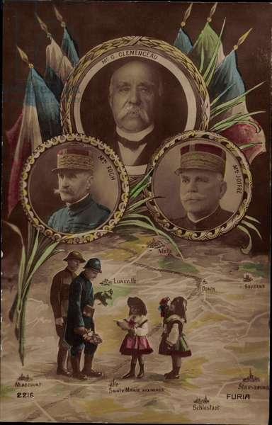 Georges Clemenceau, Marechal Foch, Marechal Joffre