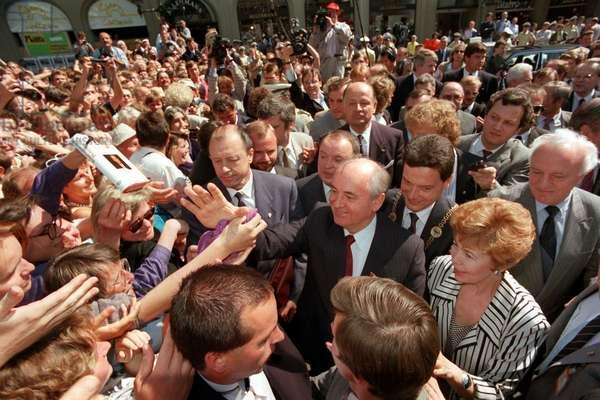 State visit: Mikhail Gorbachev in Bonn 1989 (photo)