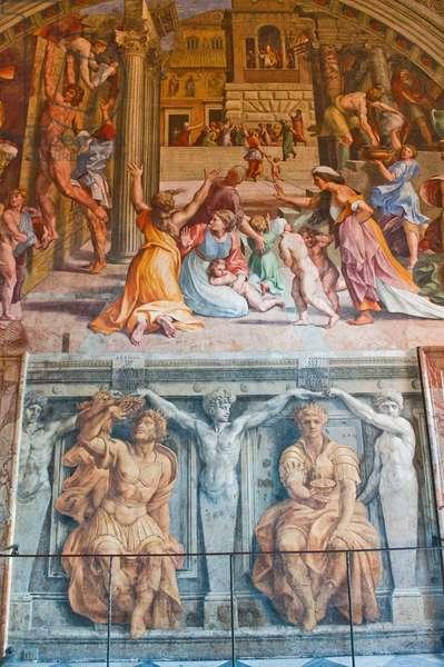 Fire in the Borgo, from the Stanza dell' Incendio di Borgo, 1511 (fresco)