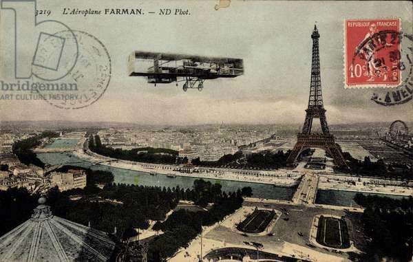 Paris, L'Aeroplane Farman, Biplan Flugzeug, Eiffelturm