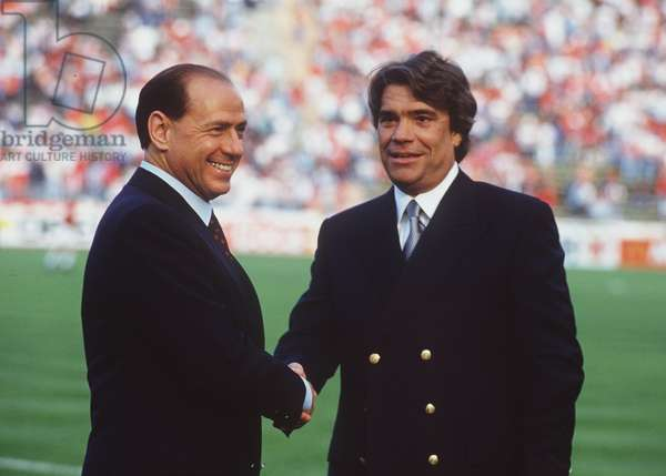 Silvio Berlusconi and Bernard Tapie