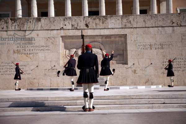Change of Guards in front of Greek Parliament in Athens.