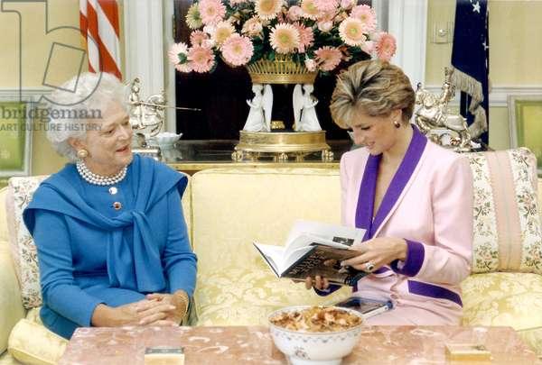 Barbara Bush and Diana, Princess of Wales