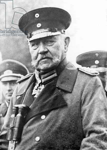 WWI - Portrait of Hindenburg around 1917