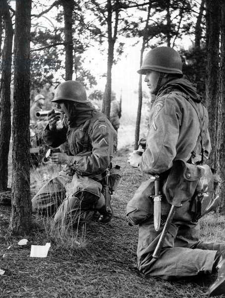 Manoeuvre of US army in Berlin Grunewald