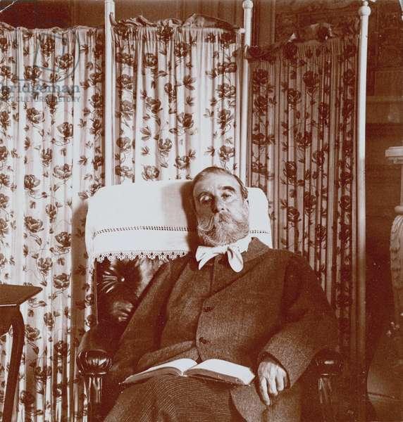 [Portrait of Ludovic Hal̩vy ], Edgar Degas, French, 1834 - 1917, France, Europe, 1895, Gelatin silver print, Image: 8.1 x 7.8 cm (3 3/16 x 3 1/16 in.) | usage worldwide