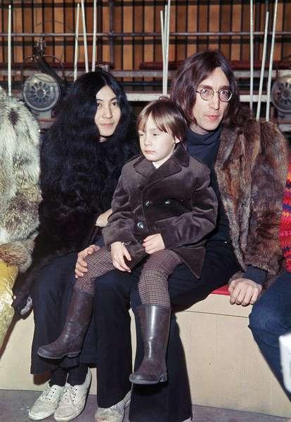 John Lennon and Yoko Ono with Julian