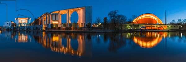 Berlin - Chancellery and Haus der Kulturen der Welt