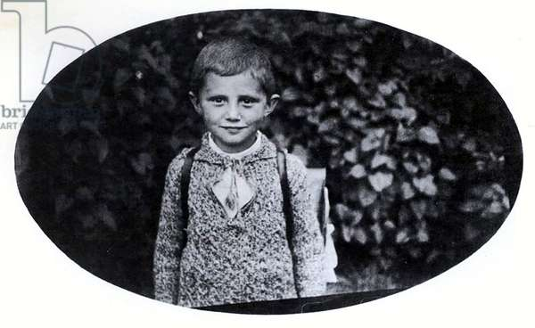 The pupil Joseph Ratzinger