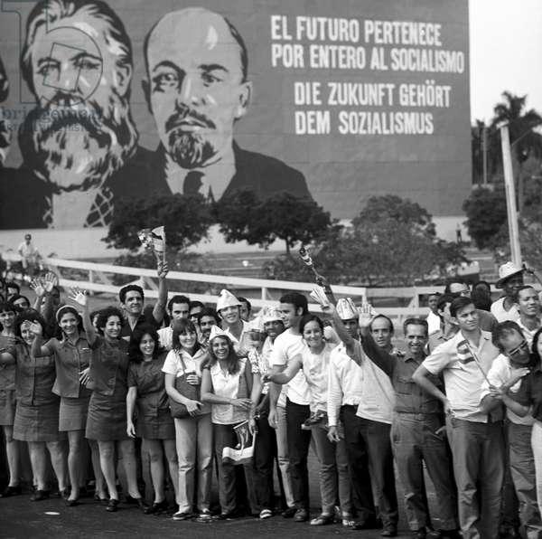 Historical Cuba - State visit Honecker 1974